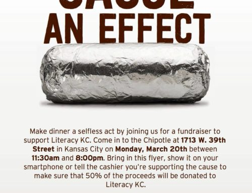 Chipotle day in benefit of Literacy KC is Monday March 20th!
